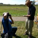 Danków zamek - Prezentacja znalezisk, czyli sesja dla fotoreporterów