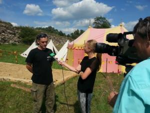 Zamek w Dankowie - wywiad telewizyjny z badaczami