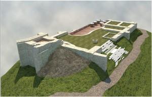 Koncepcja adaptacji ruin zamku w Muszynie