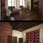 Projekt wnętrz zamku w Uniejowie