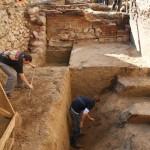 Zamek w Lidzbarku Warmińskim - eksploracja warstw archeologicznych na międzymurzu południowym przedzamcza