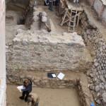Zamek w Lidzbarku Warmińskim - międzymurze południowe w trakcie badań archeologicznych