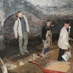 Zamek w Lidzbarku Warmińskim - badania podziemi baszty artyleryjskiej