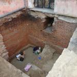 Zamek w Lidzbarku Warmińskim - badania odsłoniły malowane ściany śrdniowiecznej wiezy