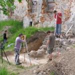 Zamek w Ełku - wykopaliska