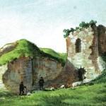 Zamek w Krzepicach w połowie XIX w