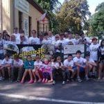 Uczestnicy VI Wakacji z Historią przed Muzeum Gozdowice