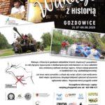"""Plakat w """"Odkrywcy"""" IX Wakacji z Historią. Gozdowice 2020"""