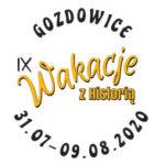 znaczek IX Wakacji z Historią. Gozdowice 2020